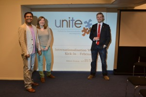 (from L-R) [UniTe] Ajay, Carolin and [Scintilla] Robert